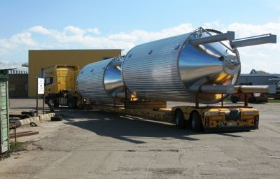 Delivery of beer tanks from Randers (DK) to Voronezh (RU)