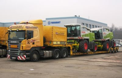 Harvesters delivery from Harsewinkel (DE) to Russia