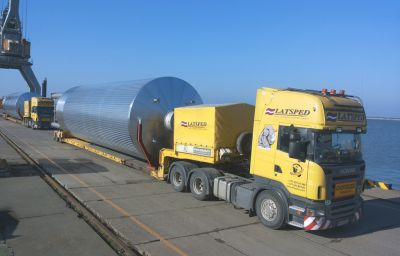 Transportation of beer tanks from Liepaja (LV) to Voronezh (RU)