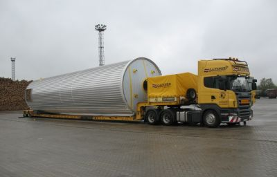 Delivery of oversized tanks from Steisslingen (DE) to Dzerzhinsk (RU)